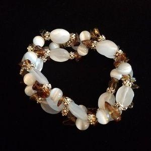 LIA SOPHIA - 3 stretch bracelets, natural stones
